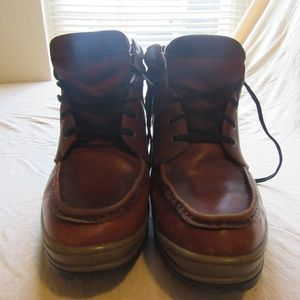 Mens G.H. Bass Leather Moc Toe Boots Sz 13